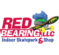 Red Bearing Indoor Skate Park Logo Logo